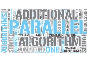 Parallel algorithms Word Cloud Concept