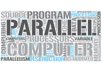 Parallel computing Word Cloud Concept
