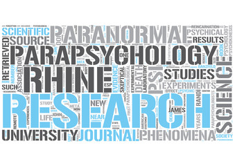 Parapsychology Word Cloud Concept