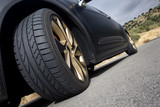 wheel of a black sport car