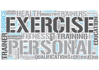 Personal fitness training Word Cloud Concept
