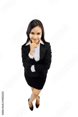 Success Woman In High Angle View