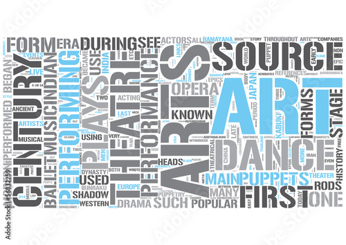Performing arts Word Cloud Concept