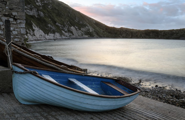 Boats at Lulworth Cove