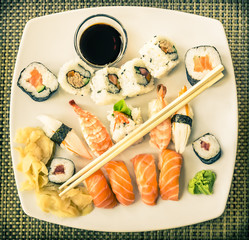 Vintage Plate of Sushi