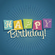 Retro Happy Birthday Greeting Card