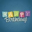Retro Happy Birthday Greeting Card