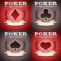 Set of Poker Backgrounds