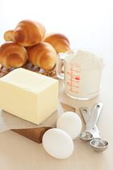 パン作りの材料