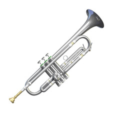Silver Trumpet Isolated
