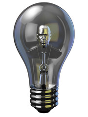 Man in Light bulb