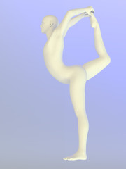 Yoga Pose Statue