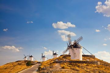 ypical windmills of Region of Castilla la Mancha