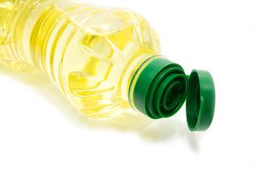 Oil Bottle on the White Background