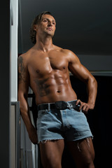 Male Athlete's Ripped Abs