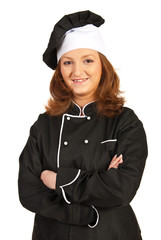 Confident chef woman