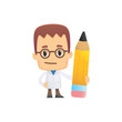 scientist. in various poses for use in advertising,