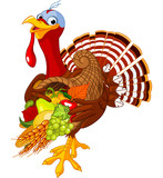 Turkey with cornucopia