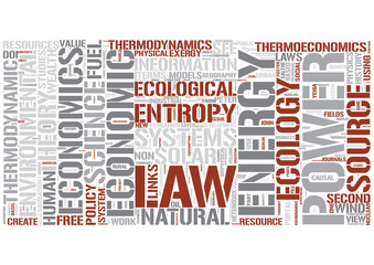 Bioeconomics (biophysical) Word Cloud Concept