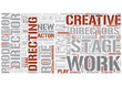 Theatre director Word Cloud Concept