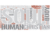 Theological anthropology Word Cloud Concept