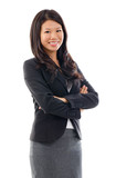 Arms crossed Asian Business woman