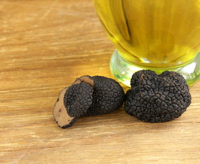 delicacy mushroom black truffle  -  rare and expensive vegetable