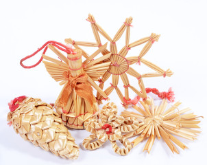christmas straw decorations