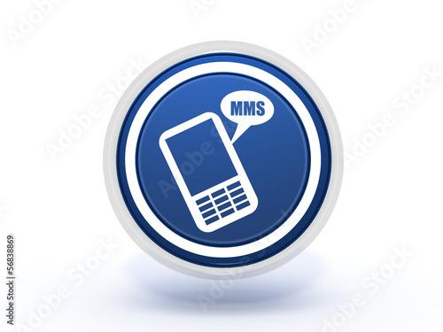 mms circular icon on white background