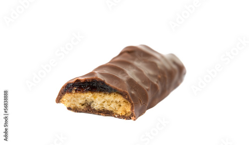 cookies with chocolate isolated