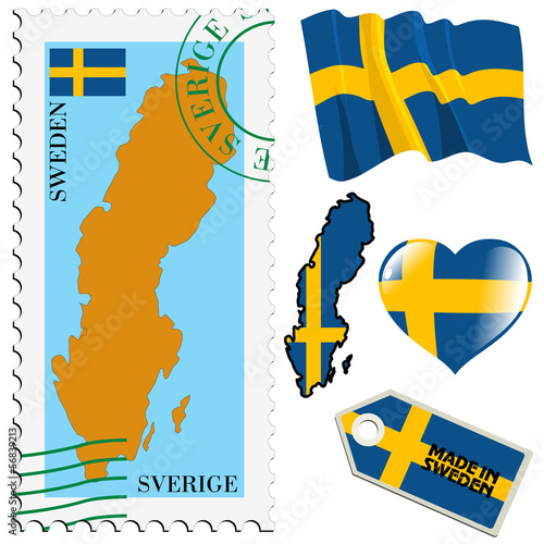 national colours of Sweden