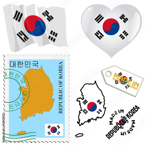 national colours of South Korea