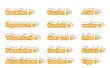 Online Shop Button orange