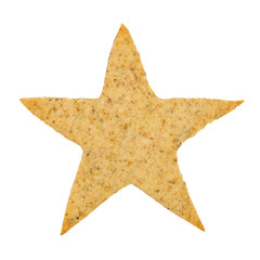 Star-shaped cookie isolated on white background