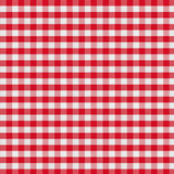 red checkered fabric tablecloth