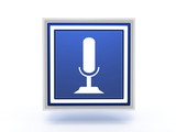 microphone rectangular icon on white background