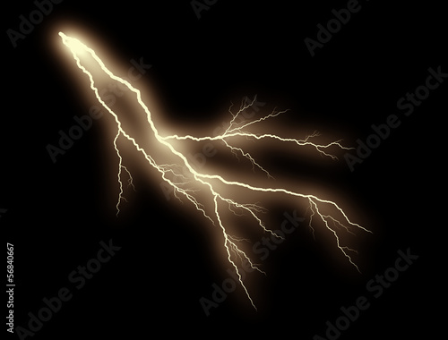 orange thunderbolt on black background