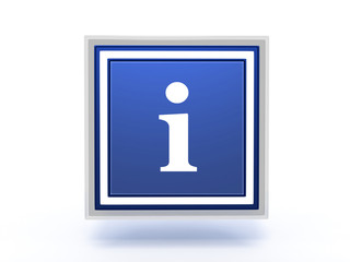 information rectangular icon on white background