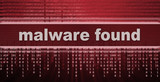 malware. computer virus warning sign
