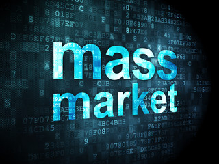 Advertising concept: Mass Market on digital background