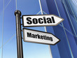 Marketing concept: Social Marketing on Building background