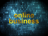 Finance concept: Online Business on digital background