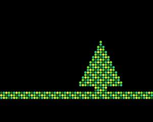 Weihnachtsbaum aus grünen und gelben Punkten