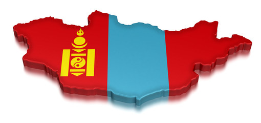 Mongolia (clipping path included)