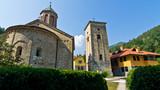 Entrance to Rača monastery established in 13. century, near Tara poster