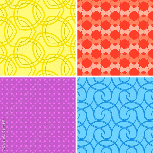 Colorful seamless patterns - repeating wallpaper