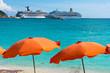 Beautiful beach in Philipsburg, Saint Martin, Carribean Islands