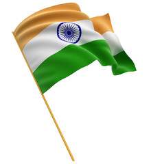 3D Indian flag (clipping path included)