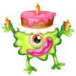 A birthday of a green monster