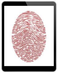 Business Black Tablet With Fingerprint Access